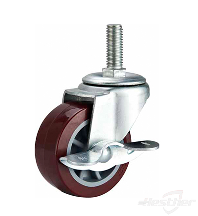 dark pu light casters with brake