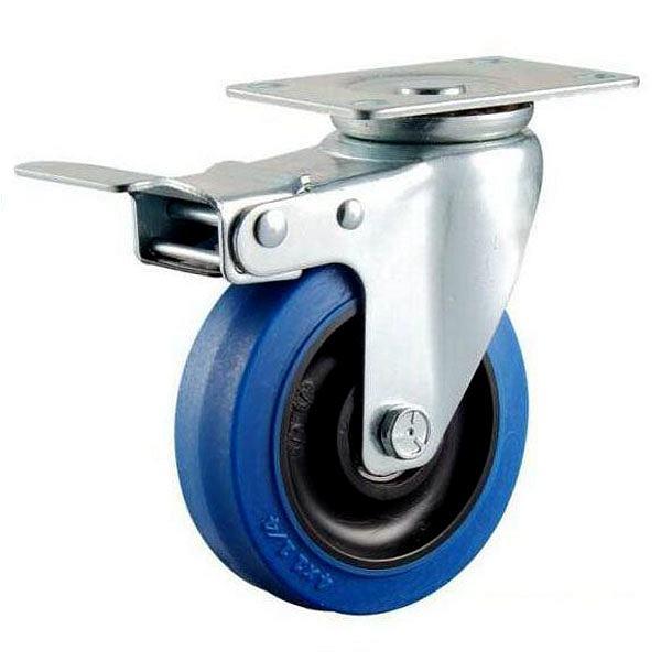 blue rubber caster