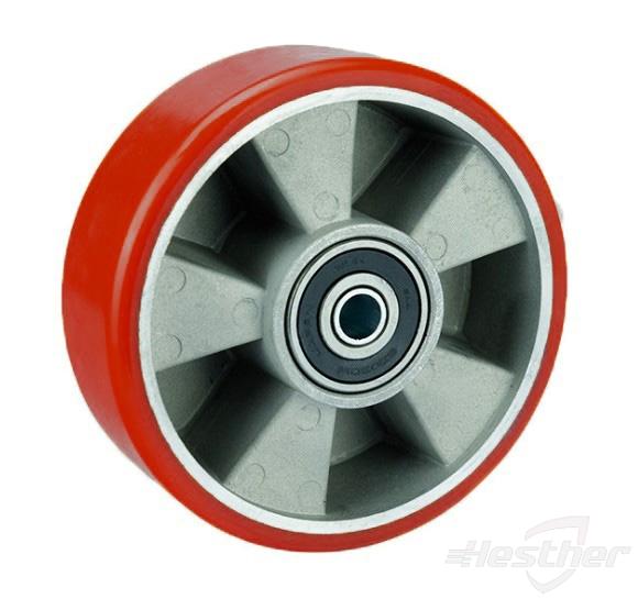 PU tread aluminium core wheel