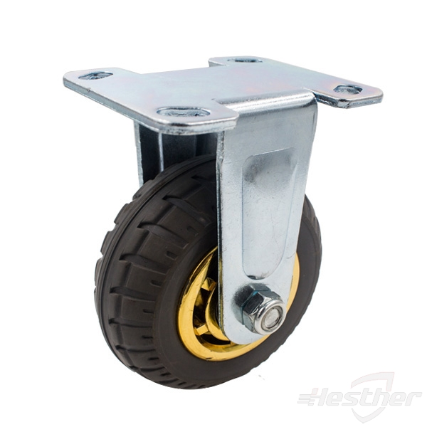 rubber rigid heavy duty caster and wheels