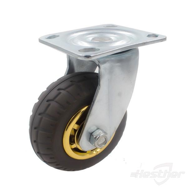 heavy duty caster wheels-grey rubber