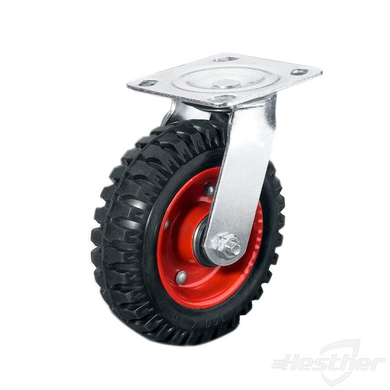 rubber on iron heavy duty caster wheels