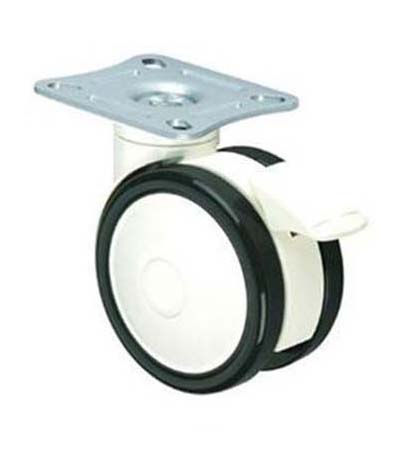 plate type medical caster wheel