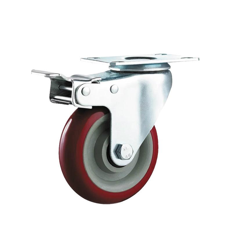 medium duty caster with brake