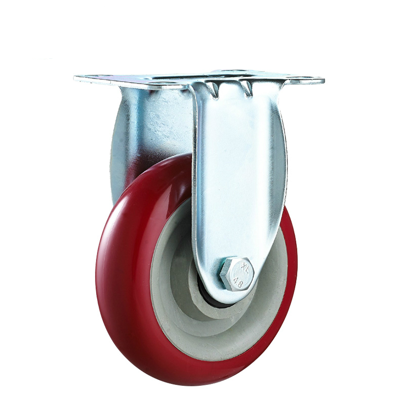 double ball bearing pvc caster