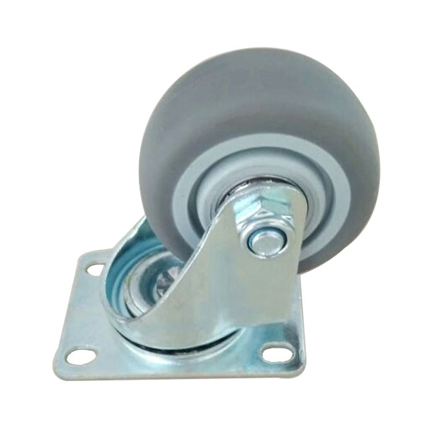 plate tpr caster without brake