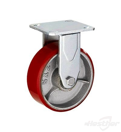 red pu heavy duty casters