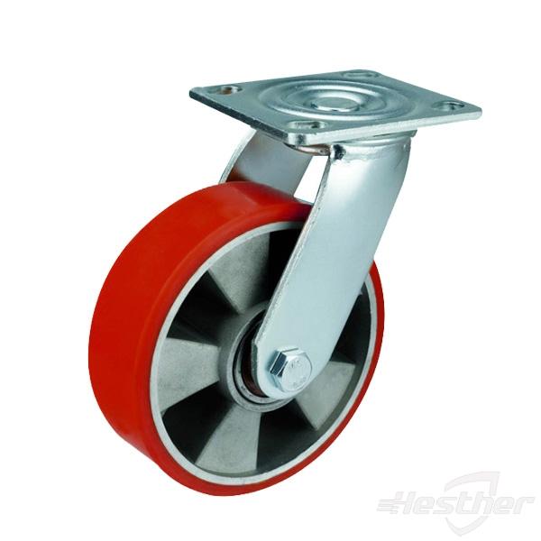 PU on aluninum heavy duty caster wheels