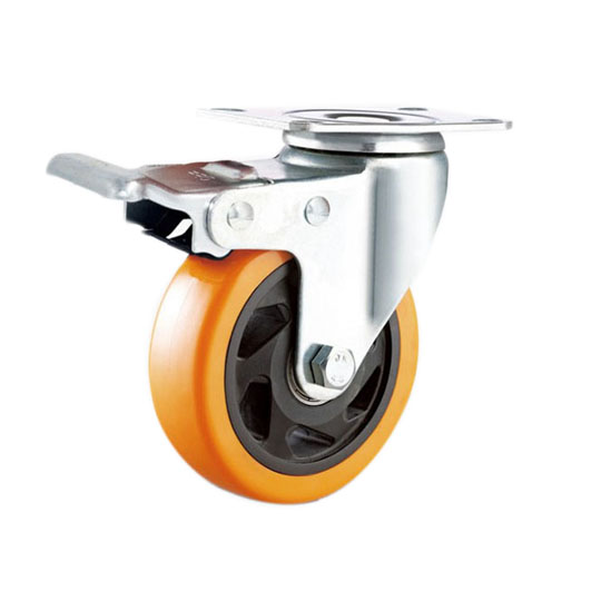 swivel plate orange pu caster