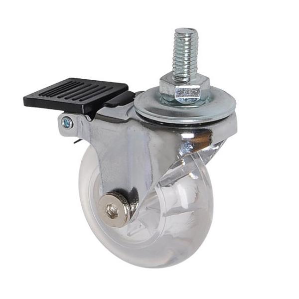 stem transparent caster with brake